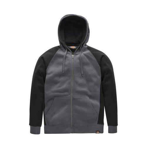 Dickies Two Tone Hoodie Grey/Black (Various Sizes) Men's Work Jumper