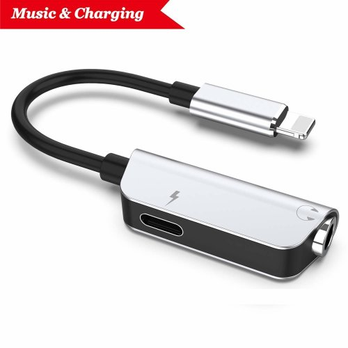 Headphone Jack Adapter for iPhone XR Adapter Earphone Audio Splitter and Charge Connector for iPhone X/XS max/7/7 Plus /8/8Plus Support to Listen...