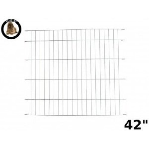 Ellie-Bo Divider for Dog Crate Cage, X-Large, 42-Inch, Silver