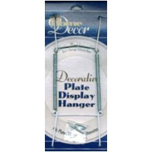 """Decorative Plate Display Hanger Expandable 10"""" To 14""""-White"""