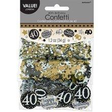 Gold Celebration 40th Confetti 34g -