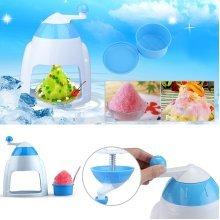 Portable Hand Crank Manual Ice Crusher Shaver Shredding Snow Cone Maker Machine Kitchen Appliance