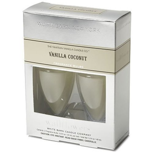 Bath & Body Works Slatkin & Co VANILLA COCONUT Wallflower Refill 2 BULBS