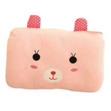 Pink Bunny-Hand Warmer Pillow Soft Short Plush Hand Warmer Cushion,11.8x9''