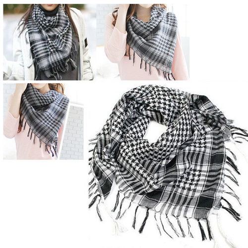 TRIXES Black & White Desert Shemagh Scarf