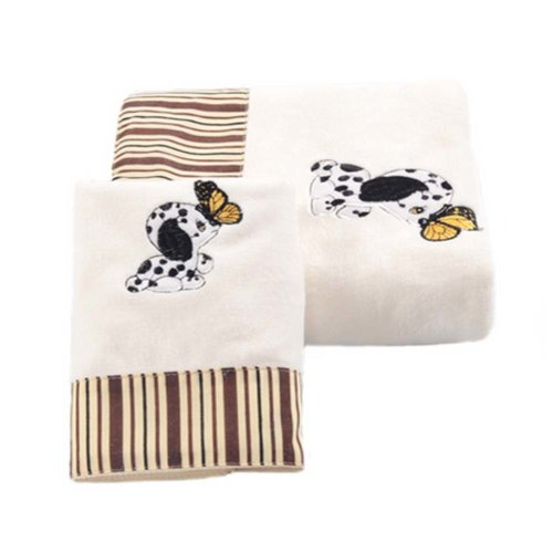 Baby Dog Pattern Strong Absorbent Bath Towels Sets(Multicolor)