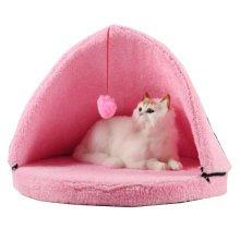 "Cute Series Soft Dog Cat Pet Bed,Cat Mongolian Yurts (20""*20""*16""),PINK"