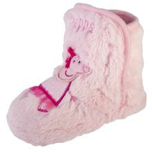 Peppa Pig Pink Fluffy Boot Style Slippers