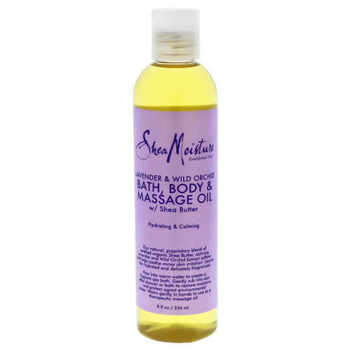 Lavender & Wild Orchid Bath-Body & Massage Oil by Shea Moisture for Unisex - 8 oz Massage Oil