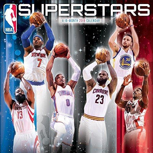 NBA Superstars 2018 Calendar