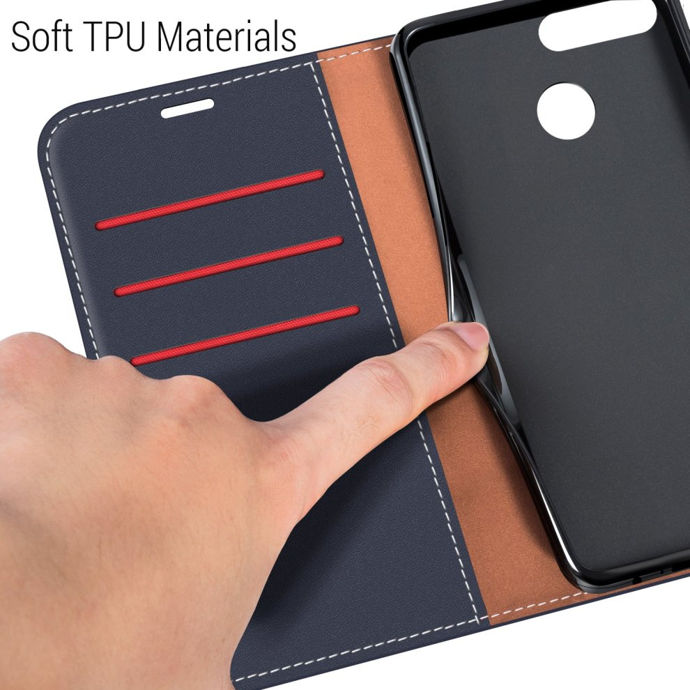 online store a6e08 93337 coodio Huawei P Smart Case, Huawei P Smart Leather Case, Huawei P Smart  Wallet Case, Stylish Magnetic Closure Flip Folio Case Cover [Wallet  Stand],...