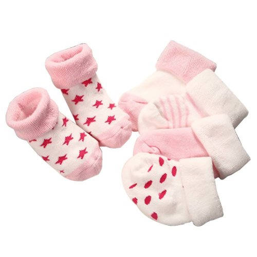 5 Pairs Baby Winter Socks Thick Terry Socks Warm Cotton Socks [Pink]