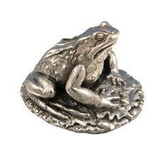 925 Sterling Silver Frog Figure - British Pond Life.