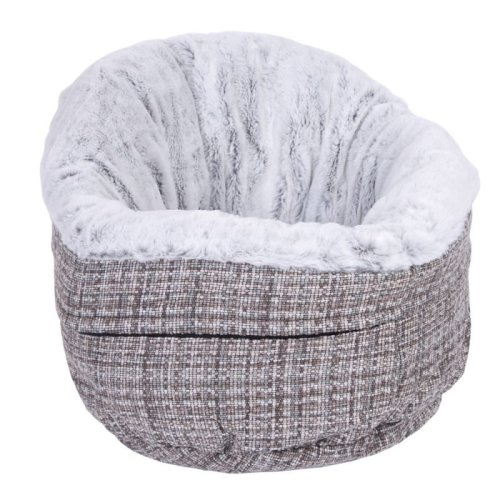 Snuggle Cat Bed Round Cuddle Bed Extra High Border Machine Wash