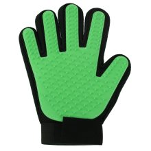 Vinsani [2 X Green] Pet Grooming Glove Brush Massager, Pet Hair Remover Mitt Deshedding Glove - Perfect for Dogs & Cats with Long & Short Fur