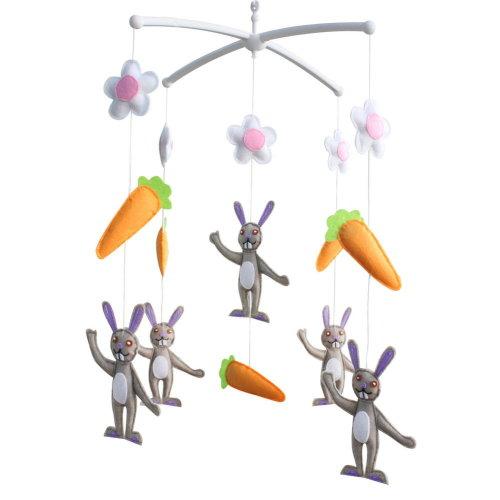 Baby Boy & Girl Bedding Rattle Toy, [Mr. Rabbit] Baby Gift
