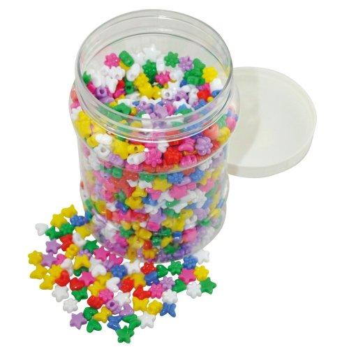 Pbx2470704 - Playbox - Plastic Beads in Jar W/ Big Holes - 1400 Pcs