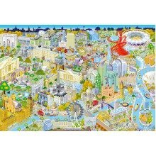 Gibsons London from Above Jigsaw Puzzle (500 Pieces)