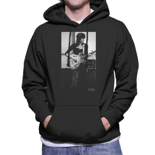 Willie Christie Official Photography - Rolling Stones Keith Richards Playing Guitar Men's Hooded Sweatshirt
