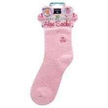 Earth Therapeutics Aloe Infused Socks Pink - 1 pair