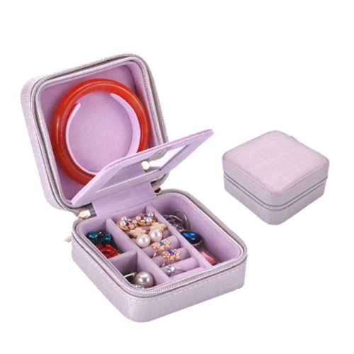 Small Jewelry Box Rings Earrings Necklace Organizer Display Storage Case for Travel, I