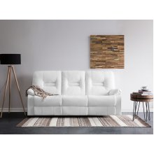 White Faux Leather 3/2 Seater BERGEN