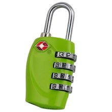 Trixes 4-dial TSA Combination Padlock for Luggage & Suitcases in Green