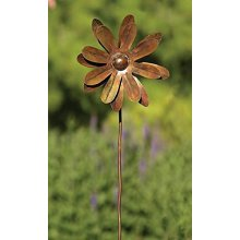 Zinnia Spinner Flower Stake Medium