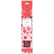 Love Red Berries Incense Sticks & Holder Gift Set Valentines Romantic Burner