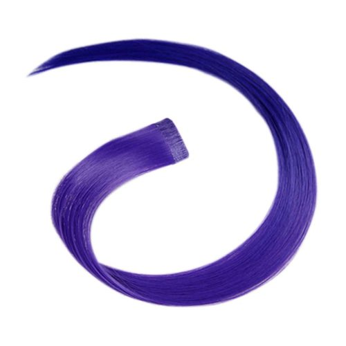 2 Pieces Of Fashionable Invisible Hair Extension Wig Piece, Purple