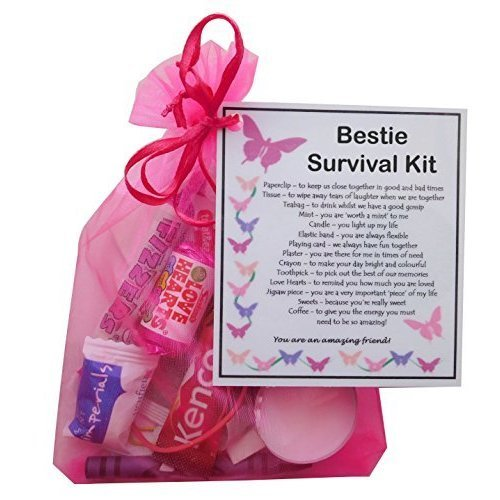 Bestie Survival Kit Gift - Ideal birthday gift for Bestie, Bestie present, present for BFF, Bestie Gift