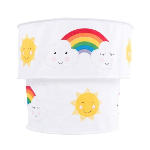 Day Dreams Smiling Sun, Cloud & Rainbow Cotton Fabric Ceiling Pendant Lightshade