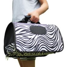 S Size Carry Bag Sweet Cute Pet Home Dog Cat Carrier House Travel---Zebra