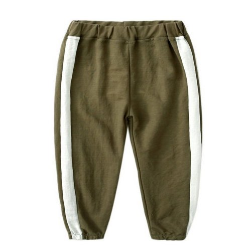 Comfortable Soft Children's Trousers, Army Green And White