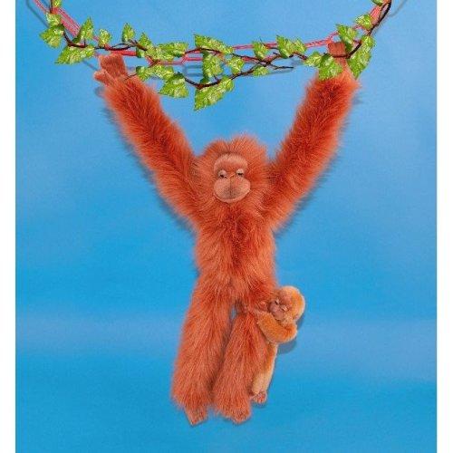 Dowman Hanging Orangutan with Baby Soft Toy 44cm