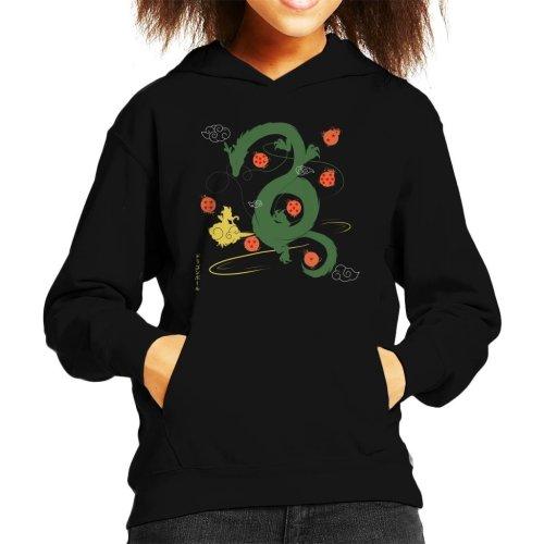 Dragon Ball Z Shenron Wish With Stars Kid's Hooded Sweatshirt