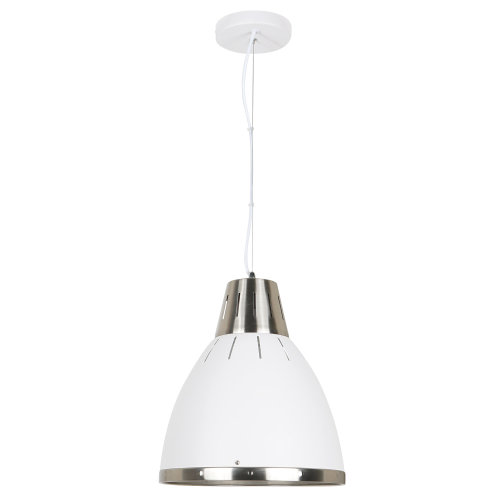 HOMCOM Futuristic Ceiling Light Pendant Lamp Adjustable Hanging Cord White