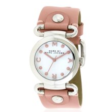 Marc by Marc Jacobs Small Molly Pink Leather Ladies Watch MBM1305
