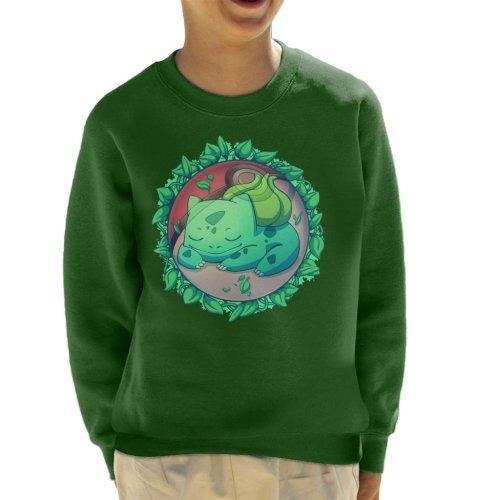 Bulbasaur Hidden Grass Ball Pokemon Kid's Sweatshirt