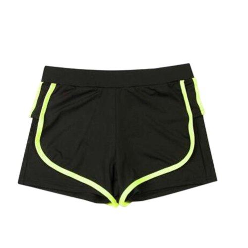 Women's Hot Elastic Waist Gym Pants Active Wear Lounge Shorts,#A 4