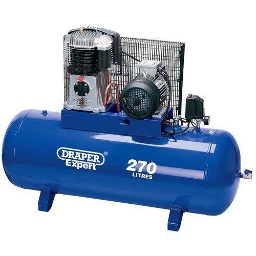 Draper 05638 Expert 270L 415V 5.5kW (7.5hp) Belt-Driven Air Compressor