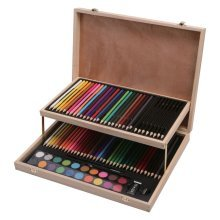 91pc Art Set Childrens Kids Colouring Drawing Painting Arts & Crafts Case