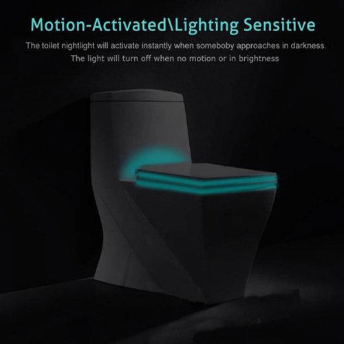 Colorful Closestool Induction Sense LED Night Light Motion Activated Toilet Night Lamp