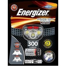 Energizer Vision HD+ Focus Headlight with 3 x AAA Batteries Included