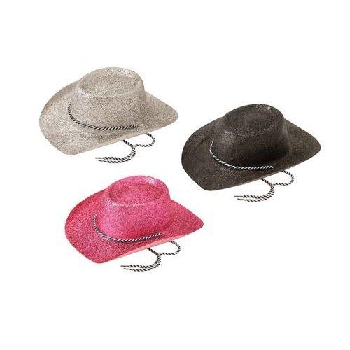 b27c538aa29a2 Cowboy Hat. Glitter Silver - cowboy fancy dress hat glitter wild west accessory  western silver