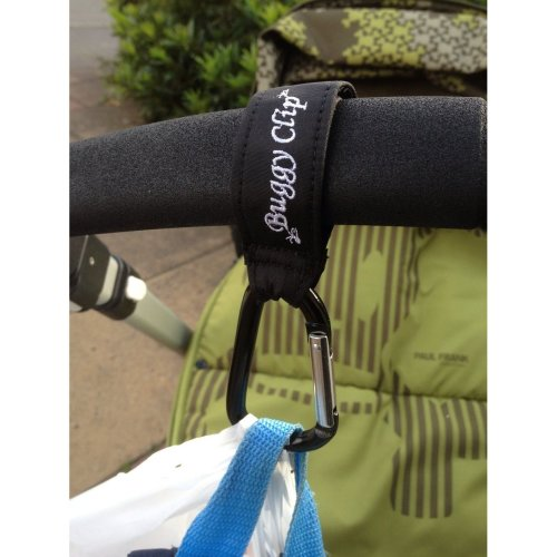 Mummy Clip Compatible with Pram/Pushchair/Stroller/Buggy Small Buggy Clip Black