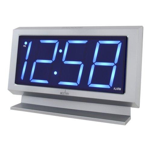 Labatt Silver LED Alarm Clock   Large Digit Alarm Clock