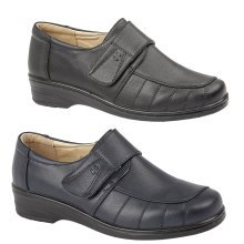 Ladies Clover Casual Comfort Velcro Shoe