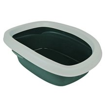 Cat Litter Tray With Rim - Trixie Carlo Edge Greylight Various Sizes New -  litter tray cat rim trixie carlo edge greylight various sizes new