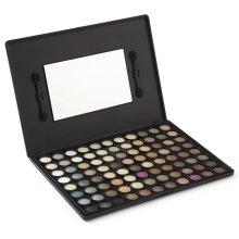 LaRoc 88 Colour Eyeshadow Palette Makeup Kit Set Box with Mirror - Natural Tones